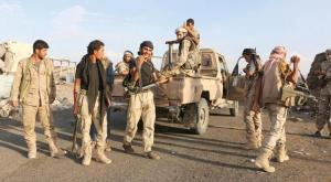Pro-legitimacy Yemeni fighters before ceasefire implementation