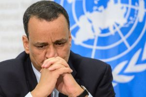 Ismail Ould Cheikh Ahmed, the UN special envoy for Yemen, met reporters after the conclusion of inconclusive peace talks in Switzerland, on December 20, 2015,AFP