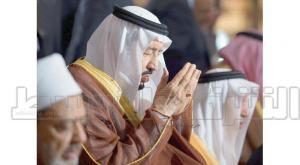 King Salman after praying at Al-Azhar Mosque