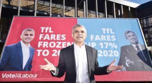 The candidate for Mayor of London, Sadiq Khan