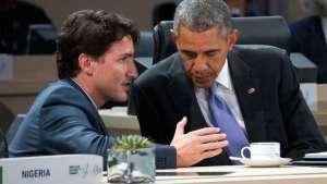 Canadian Prime Minister Justin Trudeau and U.S. President Barack Obama