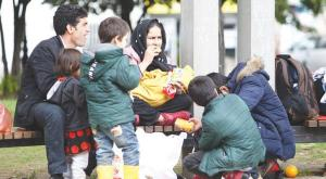 Displaced family prepares to travel to one of the European Union's countries from Belgrade