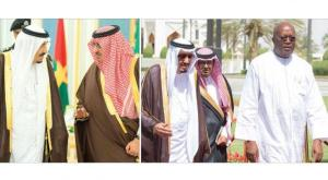 King Salman bin Abdulaziz and the President of Burkina Faso Roch Marc Christian Kaboré