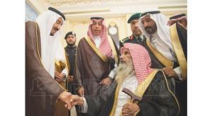 King Salman bin Abdulaziz receiving number of citizens in Jeddah on Tuesday