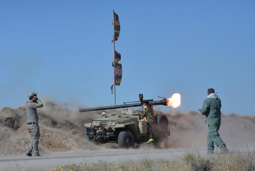 Iraqi Forces Battle ISIS South of Fallujah