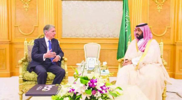 Mohammed Bin Salman Discusses Efforts to Stabilise the Region With Hammond