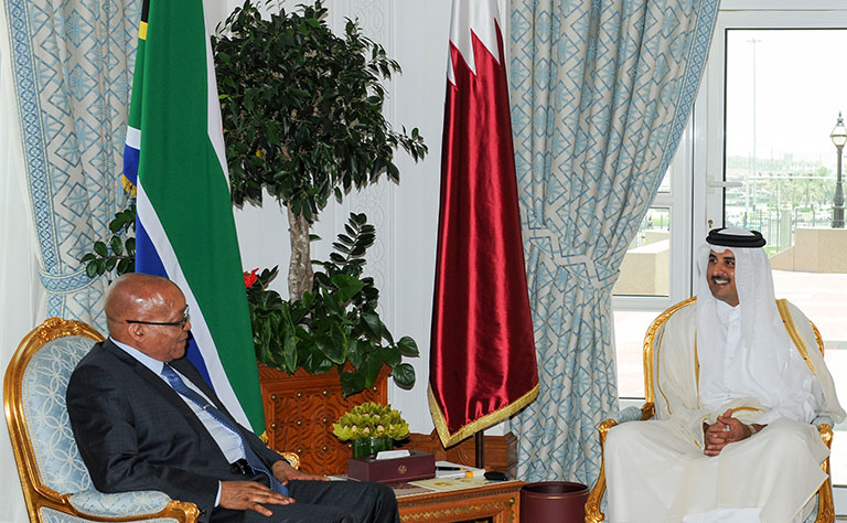 Qatari-South African Summit Discusses International Issues, Ways to Enhance Cooperation