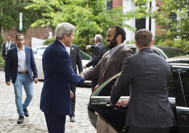 Prince Mohammed Bin Salman Kicks Off Visit to U.S. by Meeting Kerry