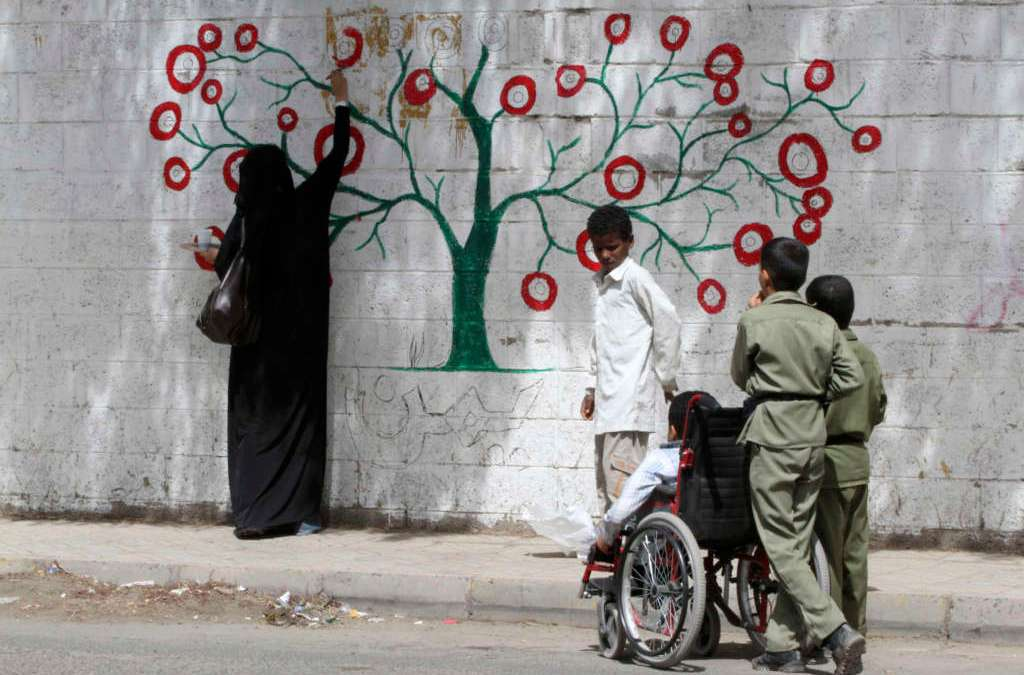 Yemeni Artist Encourages Youth to Embellish Streets with Murals