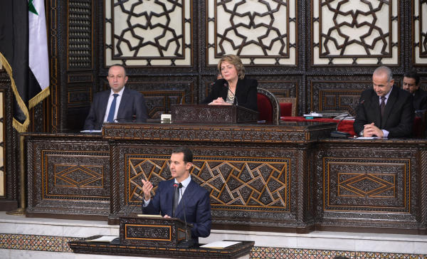 Assad Insists on a National Unity Government Without a Political Transition