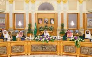 kIng Salman chairs cabinet session