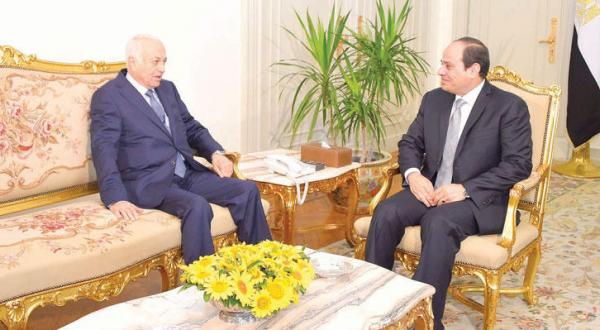 El-Sisi Praises Elaraby's Efforts to Support Arab Relations at the End of His Tenure
