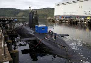 A nuclear submarine is seen at the Royal Navy's submarine base at Faslane, Scotland, Britain August 31, 2015. Reuters