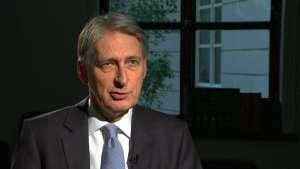 British Treasury Secretary Philip Hammond