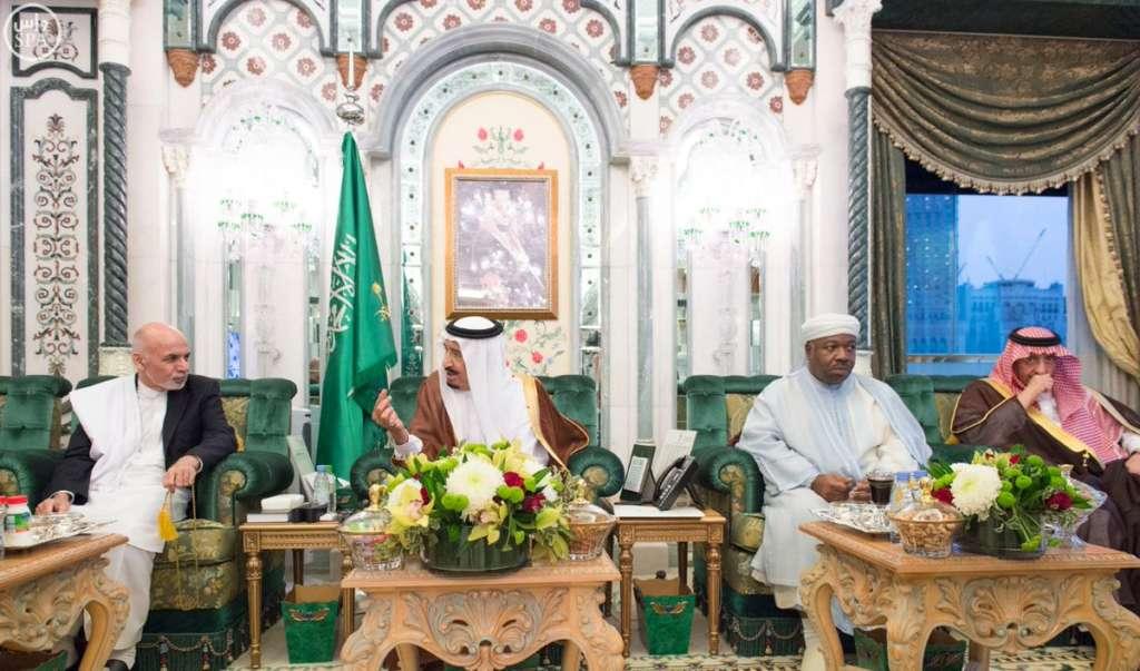 King Salman Receives Presidents of Afghanistan, Gabon in Makkah