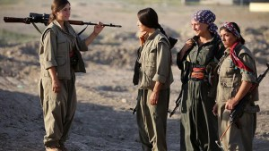 Women traditionally form a major part of Kurdish fighting forces, and they are well represented among Kurdish forces in neighboring Turkey and Iraq. (File photo: AFP)
