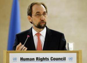 United Nations (U.N.) High Commissioner for Human Rights Zeid Ra'ad Al Hussein addresses the 31st session of the Human Rights Council at the U.N. European headquarters in Geneva, Switzerland, February 29, 2016. REUTERS/Denis Balibouse