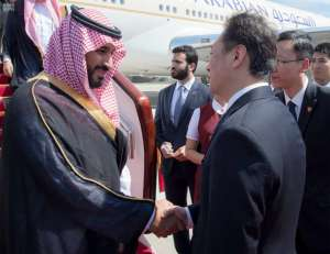 Deputy Crown Prince arrives in China on an official visit upon the directive of Custodian of the Two Holy Mosques and in response to an invitation of Chinese government (SPA)