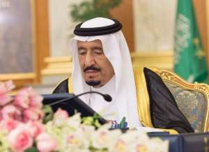 Caption: King Salman chairs a cabinet session in Jeddah on Monday/SPA