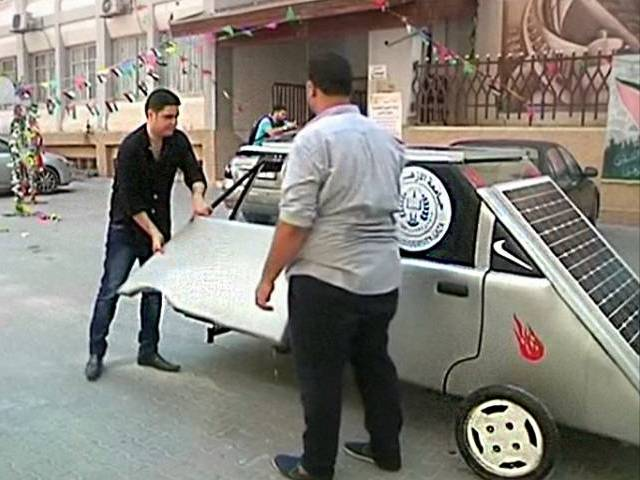First Solar Power Car in Gaza Strip
