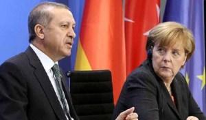 German Chancellor Angela Merkel Sitting Beside Turkish President Tayyip Erdogan