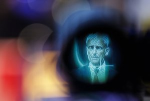 Matthias Mueller, chief executive of Volkswagen, is displayed on a camera's viewfinder during a news conference. CreditLisi Niesner/Bloomberg