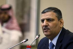 Riad Hijab, who was chosen by Syrian opposition groups as coordinator of a negotiating body to lead future peace talks attends a news conference in Riyadh