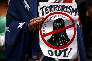 Reclaim Australia made sure their message was seen clearly at the anti-Islam rally.