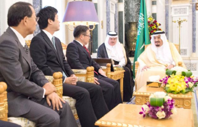 Custodian of the Two Holy Mosques Receives Japanese Delegation