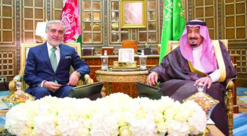 Custodian of the Two Holy Mosques Receives Executive President of Afghanistan