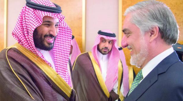 Deputy Crown Prince Meets with Afghani Executive President