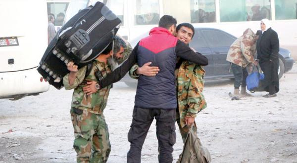 Syrian Regime Displaces Opposition Fighters From Al-Hamah