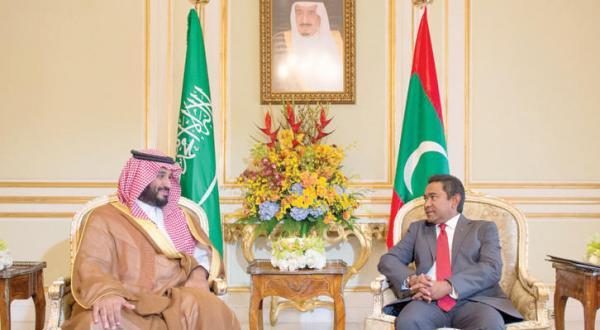 Saudi Deputy Crown Prince Meets Maldives President
