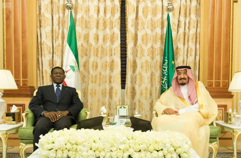 King Salman Meets with President of Republic of Equatorial Guinea