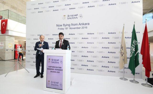 Saudi Arabian Airlines Starts Direct Flights to Ankara