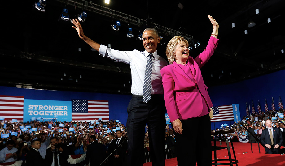 Barack Obama Hails Clinton in Last Speech as U.S. President