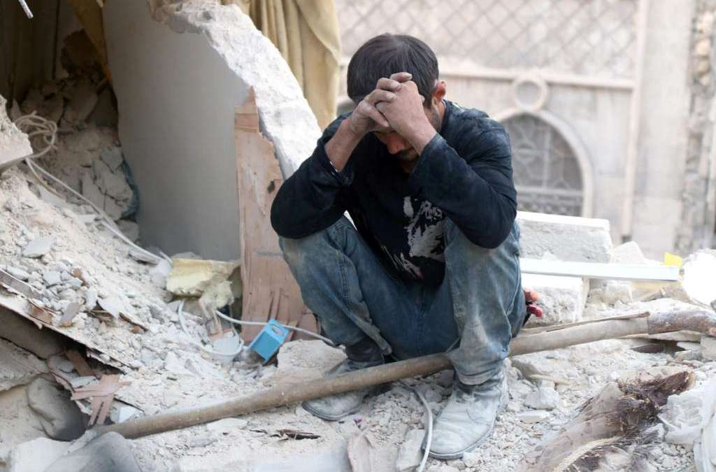 Regime-Unleashed Hell Burns East Aleppo … Death Facing those Injured
