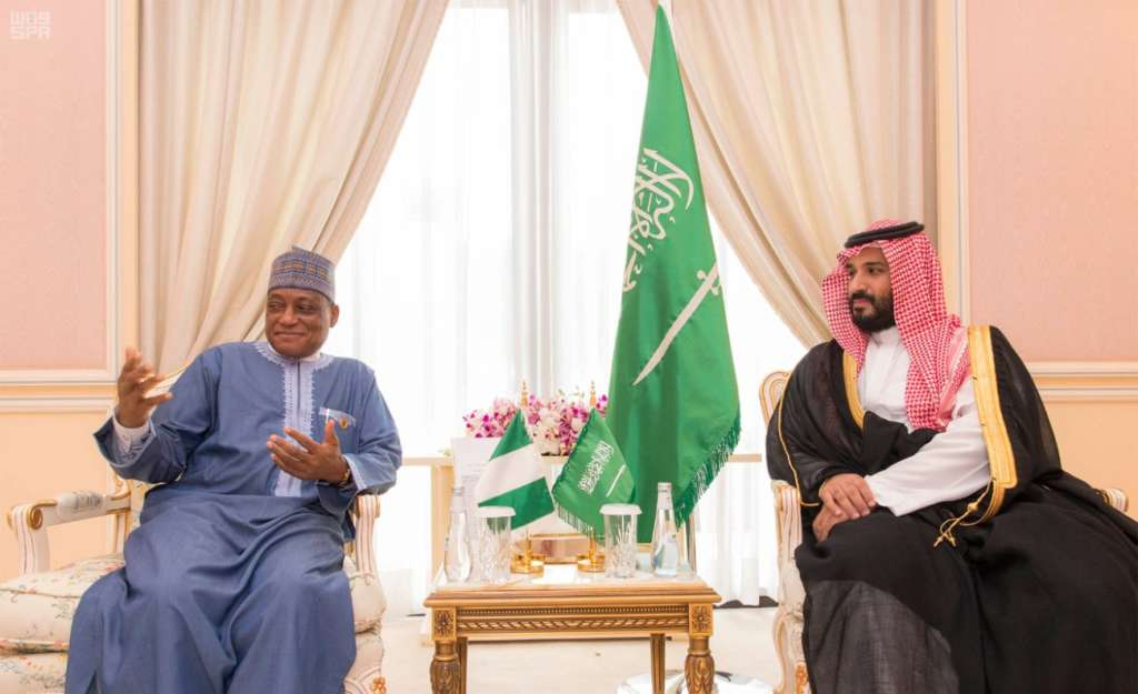 Deputy Crown Prince Meets with U.S., Nigerian Officials