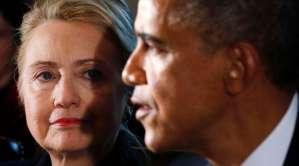 U.S. President Barack Obama and U.S. Democratic presidential candidate Hillary Clinton. Reuters