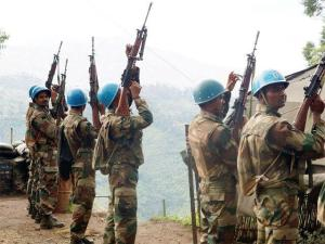Indian soldiers serving in the UN peacekeeping mission in Congo