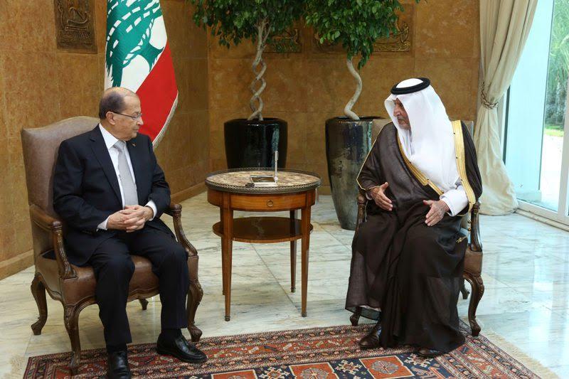 Khalid Al-Faisal in Beirut… Aoun Promises to Visit Riyadh