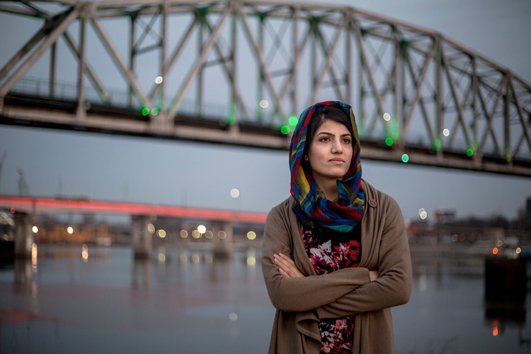 A Female Afghan Pilot Soars and Gives Up