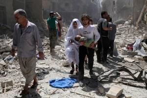 Airstrikes against civilians in Aleppo