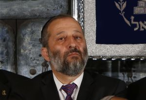 Israeli interior Minister Aryeh Deri, pictured on May 19, 2105. AFP