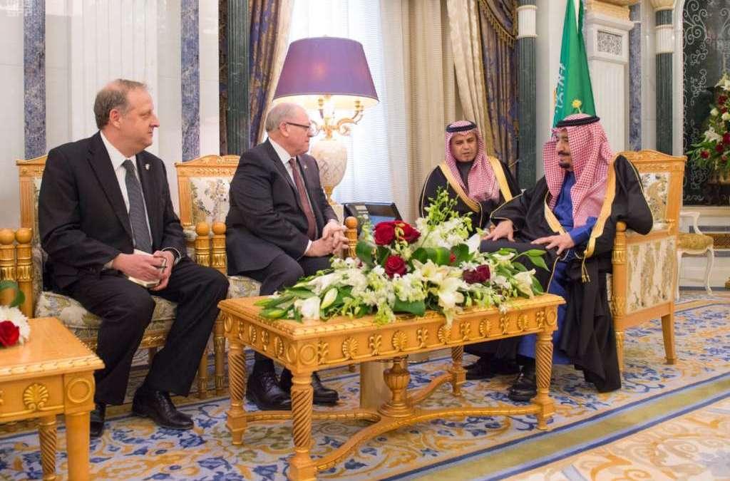 Speaker of Canadian Senate Lauds Saudi Role in Achieving Regional Peace