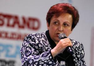 2003 Nobel Peace prize laurate Shirin Ebadi of Iran speaks during a session of the 13th World Summit of Nobel Peace Prize Laureates at the Palace of Culture in Warsaw October 21, 2013.