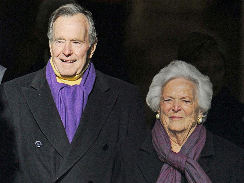 George H.W. Bush in ICU for Pneumonia
