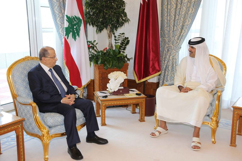 Aoun in Doha amid Agreement to Revive Higher Joint Committee
