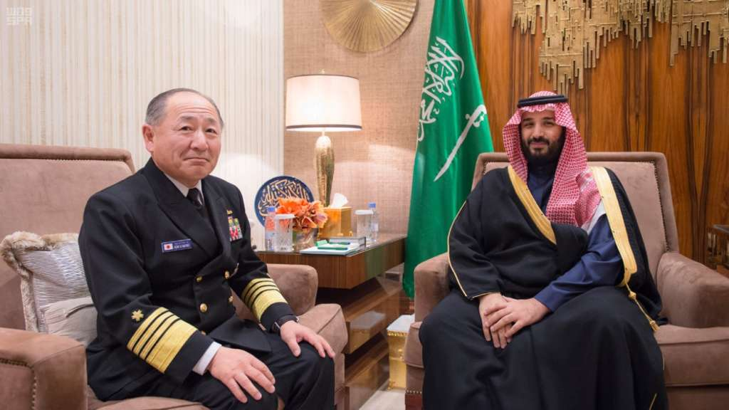 Saudi Deputy Crown Prince, Japanese Chief of Staff Review Military Relations