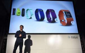 James Park, chief executive of Fitbit, speaks during an event at the 2016 Consumer Electronics Show in Las Vegas on Jan. 5, 2016. (David Paul Morris/Bloomberg)